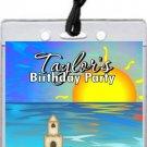 Sandcastle Beach Party VIP Pass Invitations