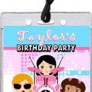 Girl Rock Band Blue Pink Backstage VIP Pass Party Invitations