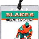 Hockey Player VIP Pass Party Invitations
