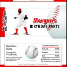 Baseball Candy Bar Wrapper