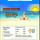 Sandcastle Beach Party Candy Bar Wrapper