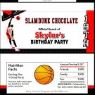 Basketball Dunk Red Candy Bar Wrappers