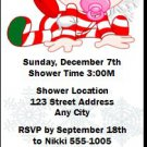 Christmas Baby Girl Ticket Invitation