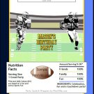 Chargers Colored Football Candy Bar Wrapper