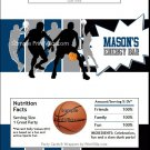 Blue Gray Basketball Team Candy Bar Wrappers