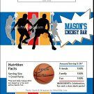 Blue Gold Red Basketball Team Candy Bar Wrappers