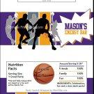 Purple Orange Basketball Team Candy Bar Wrappers
