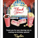 Movie Night Thank You Cards