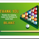 Billiards Table Thank You Card