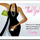 Little Black Dress Dark Thank You Card