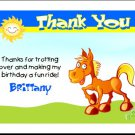 Cartoon Horse Thank You Cards