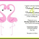 Flamingo Love Lesbian Wedding Invitations 5x7 Flat