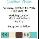 Chocolate Tiffany Squares Gay Wedding Ticket Invitation