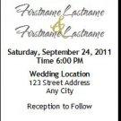 Shabby Khaki Damask Gay Wedding Ticket Invitation