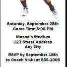 Cincinnati Bearcats Colored Football Ticket Invitation