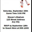Clemson Tigers Colored Football Ticket Invitation