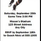 Missouri Tigers Colored Football Ticket Invitation