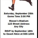 Oklahoma State Cowboys Colored Football Ticket Invitation