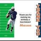 Auburn Tigers Colored Football Field Thank You Cards