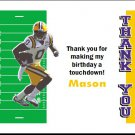 LSU Tigers Colored Football Field Thank You Cards