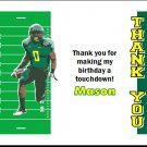 Oregon Ducks Colored Football Field Thank You Cards