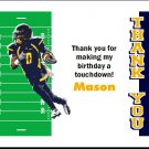 West Virginia Mountaineers Colored Football Field Thank You Cards