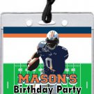 Auburn Tigers Colored Football Field VIP Pass Invitations