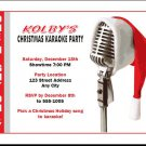 Christmas Karaoke Party Invitations