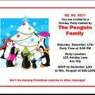 Penguin Family Christmas Party Invitations