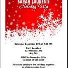 Snowflakes Holiday Party Invitation