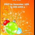 Festive Holiday Party Ticket Invitations