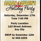 Palm Tree Holiday Party Ticket Invitation