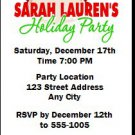 Holiday Cocktail Party Ticket Invitations