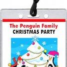 Penguin Family Christmas Party VIP Pass Invitations
