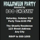 Ghost Halloween Party Ticket Invitation