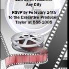 Oscar Awards Movie Reel Party Ticket Invitations