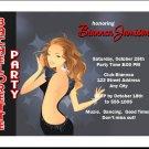 Brunette Girls Bachelorette Party Invitations