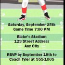 Football Bachelor Party Ticket Invitations