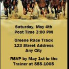 Kentucky Derby They're Off Party Ticket Invitations