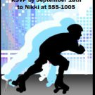 Roller Skating Male Blue Birthday Party Ticket Invitation