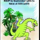 Dinosaur Birthday Party Ticket Invitation