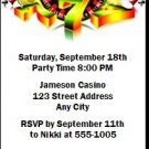 Casino Party Birthday Ticket Invitation