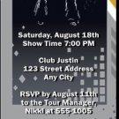 Rock Star Party Ticket Invitation