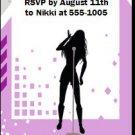 Singer Female Party Ticket Invitation