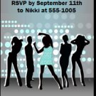 Nightclub Teal Birthday Party Ticket Invitation