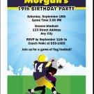 Football Players Birthday Invitation