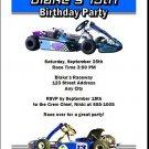 Go Cart Birthday Party Invitation