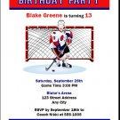 Hockey Goalie Birthday Party Invitation