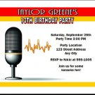 Music Star Birthday Party Invitations