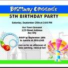 Theme Park Birthday Party Invitation